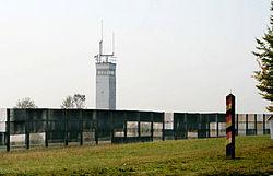 overgebleven deel van de duits duitse grens bij het grensmuseum rhn in thringen