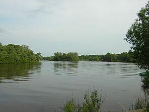 Pola River - Pola River near Lake Ilmen
