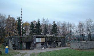 """Battle of Węgierska Górka - Fort """"Wędrowiec"""" in Węgierska Górka, modern view"""