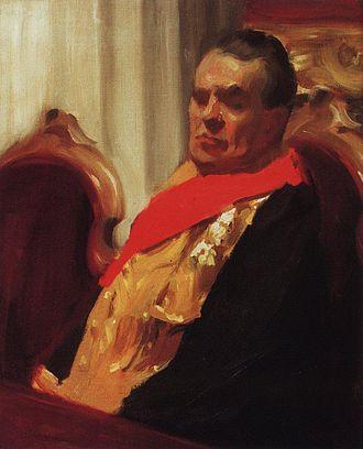 Russian Biographical Dictionary - Portrait of A. A. Polovtsov by Boris Kustodiev