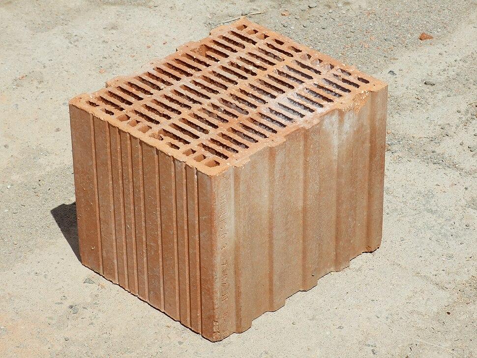 Porotherm style clay block brick angle 1