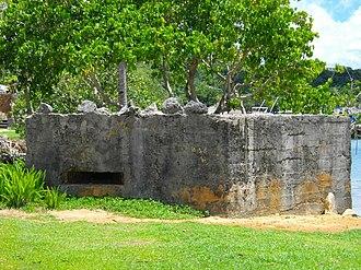 Agana-Hagatna Pillbox - Image: Port Hagatna Pillbox