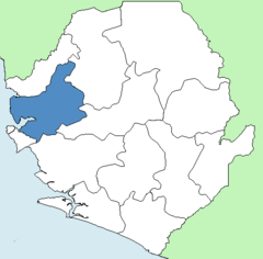 Karte Port Loko (Distrikt) in Sierra Leone