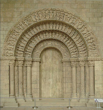 Musée national des Monuments Français - Molding of the portal of the Church of Saint-Pierre d'Aulnay, Aulnay-de-Saintonge, mid-12th century.