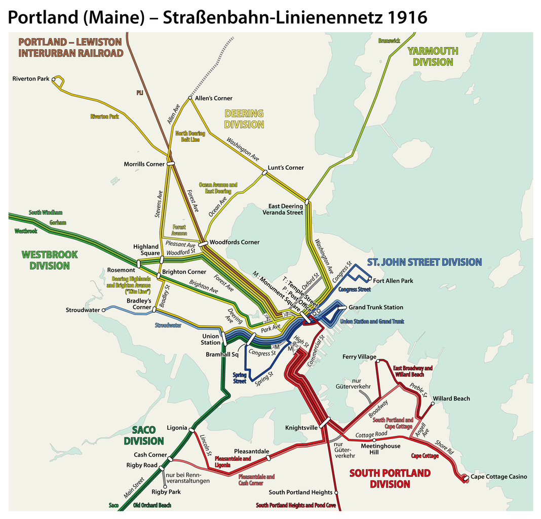 FilePortland Maine  Electric Railways Route Map 1916