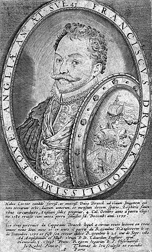 Thomas de Leu - Sir Francis Drake, engraving by Thomas de Leu after Jean Rabel