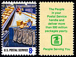 Postal Service Employees - Parcel Post Sorting - 8c 1973 issue U.S. stamp.jpg