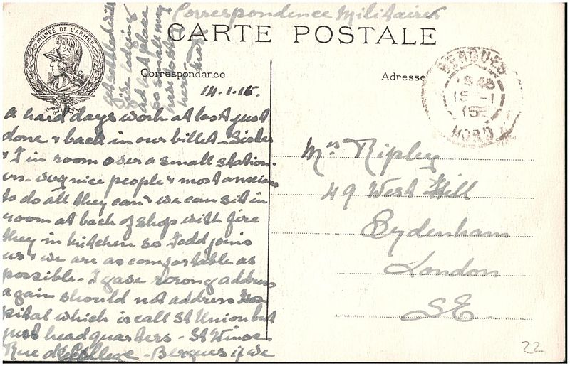 File:Postcard from Margaret Ripley to her mother, sent 14 January 1915 (6244284931).jpg