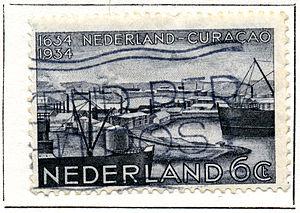 Aart van Dobbenburgh - Image: Postzegel 1934 curaçao