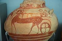Pottery Horse and chariot Late Bronze Age, NAMA 080847.jpg