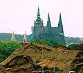 Praha, Holešovice, výstavba tunelu Blanka a hrad II.jpg
