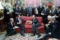 President Ronald Reagan meeting with Soviet General Secretary Mikhail Gorbachev at Maison de Saussure during the Geneva Summit.jpg