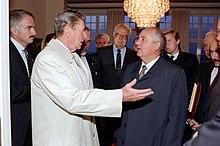 President Ronald Reagan says goodbye to Soviet General Secretary Mikhail Gorbachev.jpg