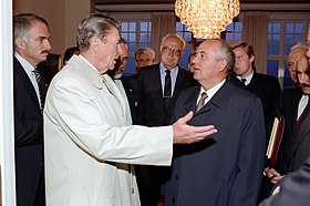 President Ronald Reagan says goodbye to Soviet General Secretary Mikhail Gorbachev.jpg