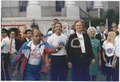President and Mrs. Bush help kick-off Great American Workout Month by participating in the Great American Workout... - NARA - 186410.tif