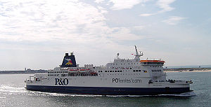 The Pride of Burgundy, a P&O Ferries passenger...