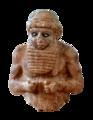 Priest-king from Uruk, Mesopotamia, Iraq, c. 3000 BCE. The Iraq Museum (transparent).png