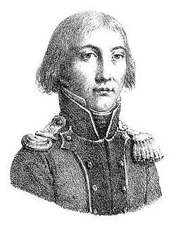 gravure en noir et blanc. Portrait rapproché de Prieur en costume d'officier