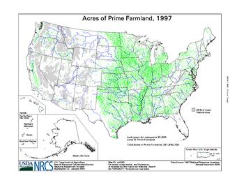 Prime farmland - Prime farmland in 1997