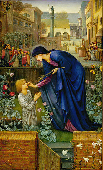 The Prioress's Tale - The Prioress's Tale, a painting by Edward Coley Burne-Jones