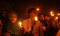 Protesters at Shahbag candle 6.JPG