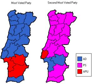 Portuguese legislative election, 1979 - Image: Pt plelection 1979