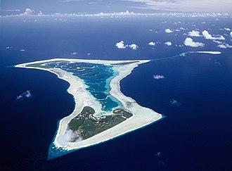 Pukapuka - Aerial view of Pukapuka Atoll