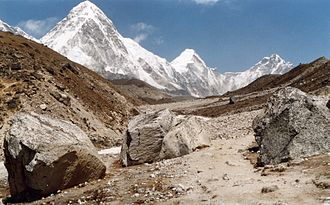 Khumbutse - Image: Pumori Langtren Khumbutse
