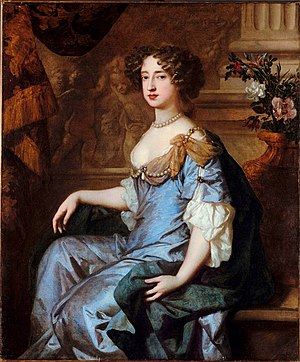Mary of Modena - Mary II of England in a painting by Sir Peter Lely.