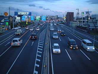 Japan National Route 22 - Route 22 in Ichinomiya, Aichi Prefecture