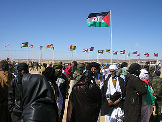 Tifariti - Commemoration of the 30th anniversary of the proclamation of the Sahrawi Republic. Tifariti, 27 February 2005.