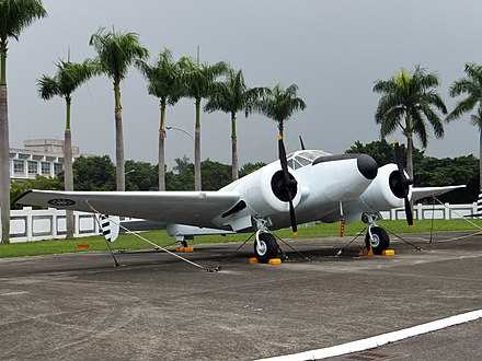 ROC Air Force AT-11 ROCAF Beech AT-11 in Military Airplanes Display Area 20111015.jpg