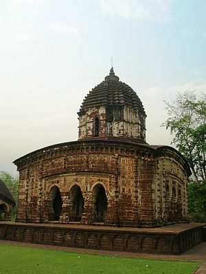 Mallabhum - Image: Radhamadhab Temple (general view) Arnab Dutta 2011