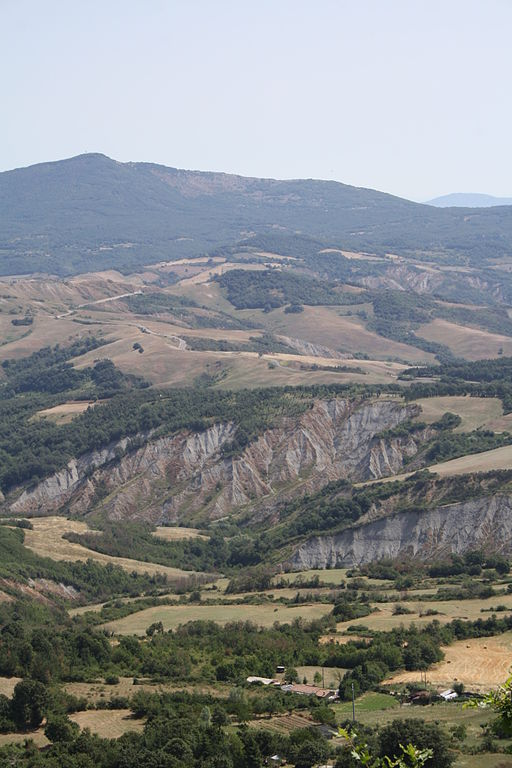 Radicofani - Crete Senesi, veduta dalla Rocca di Radicofani