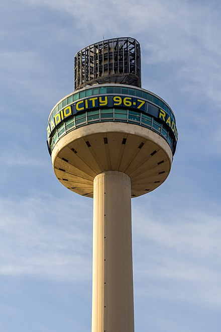 Radio City Tower, home to Radio City and a number of subsidiary stations Radio City Tower, Liverpool.jpg