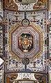 Raffaellino da reggio e lorenzo sabatini, grottesche e allegorie della sala ducale, 1573, 01 stemma medici.jpg