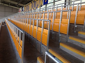 Safe standing - Rail seats at Shrewsbury Town