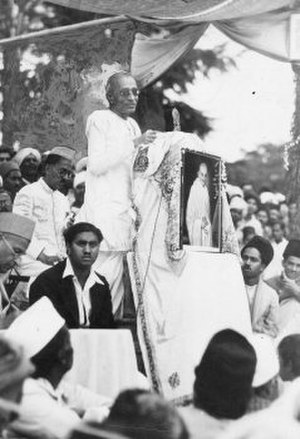C. Rajagopalachari - Premier Rajagopalachari at a rally in Ootacamund, 1939