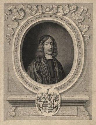 Ralph Bathurst - Portrait of Bathurst, 1676, by David Loggan.