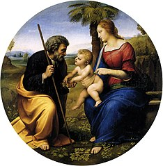 The Holy Family With a Palm Tree