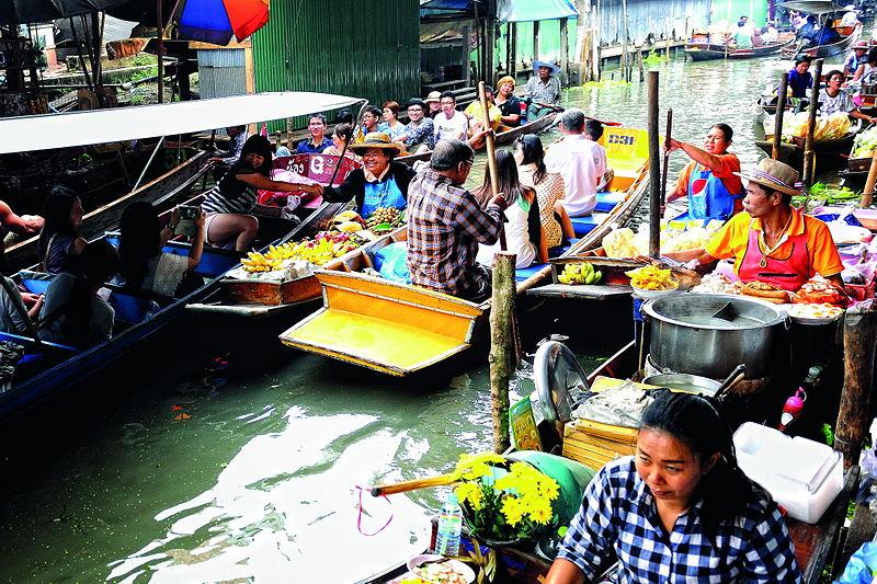 File:Ratchaburi Damnoen Saduak Floating Market 3.jpg