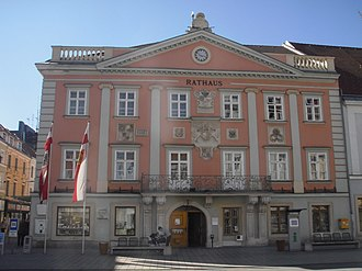 Wiener Neustadt - City Hall, seat since 1401.