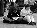 Reading at the demo 2 - Flickr - malias.jpg
