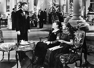 Florence Bates - Laurence Olivier, Florence Bates and Joan Fontaine in Alfred Hitchcock's Rebecca (1940)