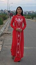 Red Ao dai