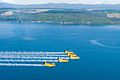 Red Checkers flying in formation over Lake Taupo on transit to New Plymouth.jpg