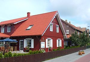 Curonian Spit National Park (Lithuania) - Red house in Nida