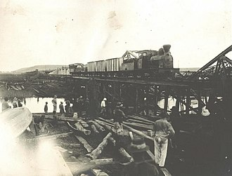 Tabora Offensive - Repaired bridge over the Malagarasi River, September 1916.