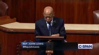 Archivo:Representative John Lewis Says It's Time to Begin Impeachment Proceedings.webm