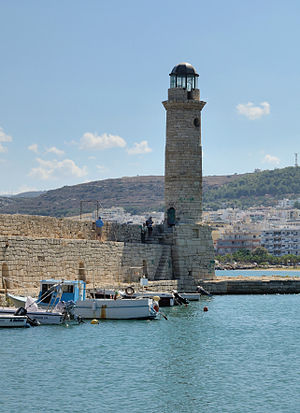 Rethymno, Crete, Greece: venetian harbour (lighthouse)